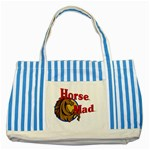 Horse mad Striped Blue Tote Bag