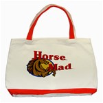 Horse mad Classic Tote Bag (Red)