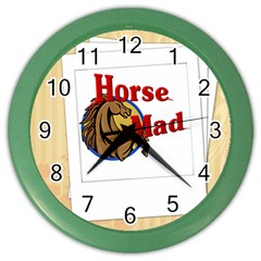Horse mad Color Wall Clock from ArtsNow.com Front