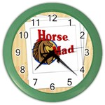 Horse mad Color Wall Clock