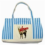 Alpaca Striped Blue Tote Bag