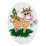 Cute cow Ornament (Oval)