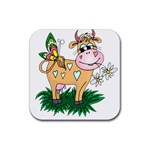 Cute cow Rubber Square Coaster (4 pack)