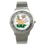 Cute cow Stainless Steel Watch