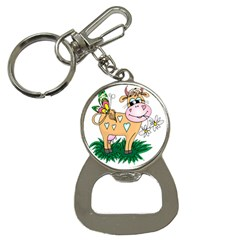 Cute cow Bottle Opener Key Chain from ArtsNow.com Front