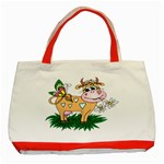 Cute cow Classic Tote Bag (Red)