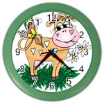 Cute cow Color Wall Clock