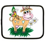 Cute cow Netbook Case (Large)