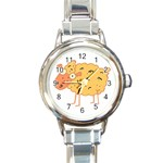 Funky sheep Round Italian Charm Watch