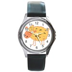 Funky sheep Round Metal Watch