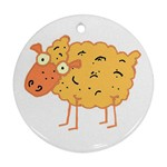 Funky sheep Ornament (Round)