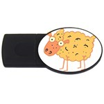 Funky sheep USB Flash Drive Oval (2 GB)