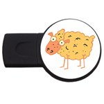 Funky sheep USB Flash Drive Round (4 GB)
