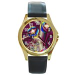 Design 10 Round Gold Metal Watch