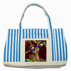 Design 10 Striped Blue Tote Bag from ArtsNow.com Front