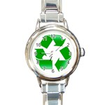 Recycle sign Round Italian Charm Watch