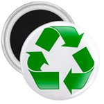 Recycle sign 3  Magnet