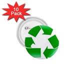 Recycle sign 1.75  Button (10 pack)