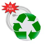 Recycle sign 2.25  Button (10 pack)