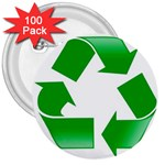 Recycle sign 3  Button (100 pack)