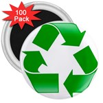 Recycle sign 3  Magnet (100 pack)