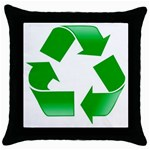 Recycle sign Throw Pillow Case (Black)
