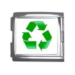 Recycle sign Mega Link Italian Charm (18mm)