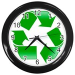 Recycle sign Wall Clock (Black)