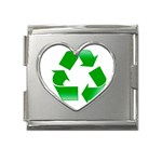 Recycle sign Mega Link Heart Italian Charm (18mm)