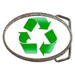 Recycle sign Belt Buckle