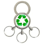 Recycle sign 3-Ring Key Chain