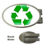 Recycle sign Money Clip (Oval)
