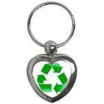 Recycle sign Key Chain (Heart)