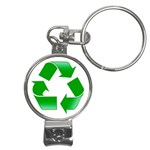 Recycle sign Nail Clippers Key Chain