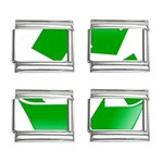 Recycle sign 9mm Italian Charm (4 pack)