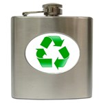 Recycle sign Hip Flask (6 oz)