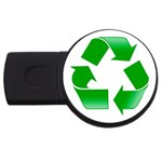 Recycle sign USB Flash Drive Round (2 GB)
