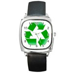 Recycle sign Square Metal Watch