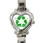 Recycle sign Heart Italian Charm Watch