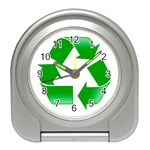 Recycle sign Travel Alarm Clock
