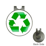 Recycle sign Golf Ball Marker Hat Clip