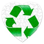 Recycle sign Jigsaw Puzzle (Heart)