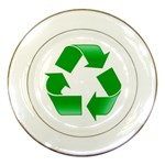 Recycle sign Porcelain Plate