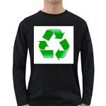 Recycle sign Long Sleeve Dark T-Shirt