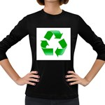 Recycle sign Women s Long Sleeve Dark T-Shirt