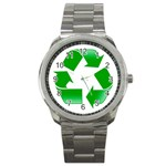 Recycle sign Sport Metal Watch