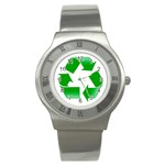 Recycle sign Stainless Steel Watch