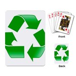 Recycle sign Playing Cards Single Design