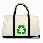 Recycle sign Two Tone Tote Bag