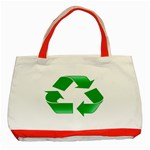 Recycle sign Classic Tote Bag (Red)